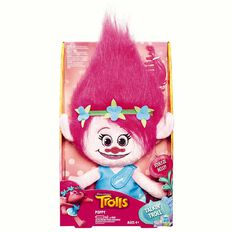 Trolls Brushable Plushable Deluxe Talking 38cm Assorted