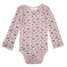 Hippo + Friends Baby Merino Print Bodysuit
