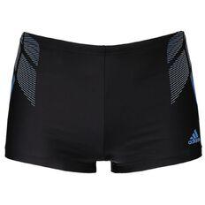 Adidas Men's Infinitex Boxer Swim Trunks Black/Blue