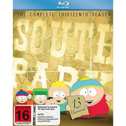 South Park The Complete Thirteenth Season Blu-ray 3Disc