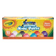 Crayola Washable Neon Paint 10 Colour Pack