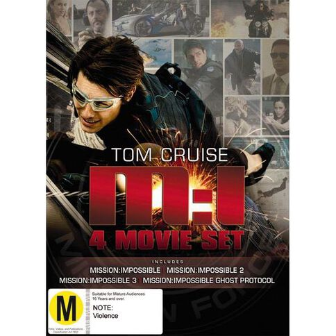 Mission Impossible 1-4 DVD 4Disc