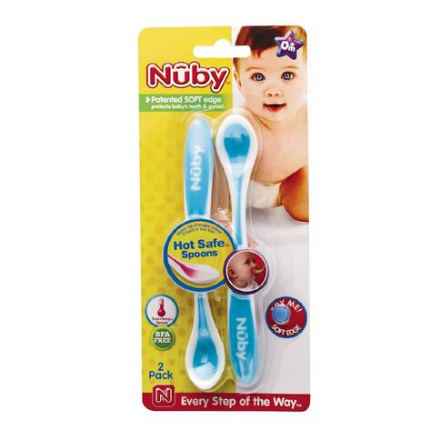 Nuby Hot Safe Spoons 2 Pack Assorted Colours