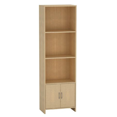 Living & Co Bookcase with Cupboard Birch