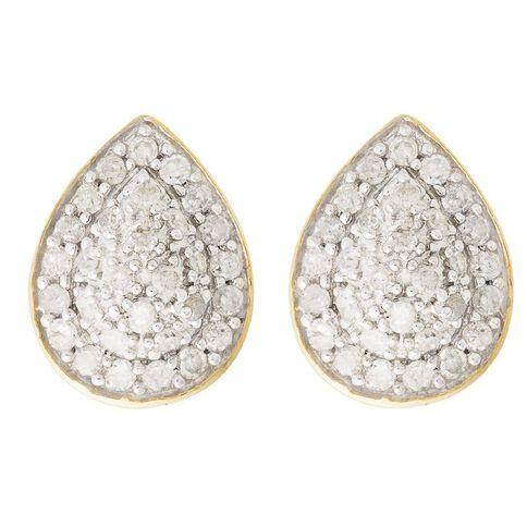 1/4 Carat of Diamonds 9ct Gold Diamond Pear Shape Earrings