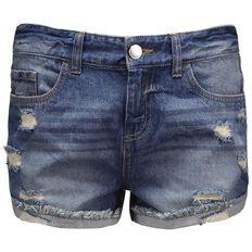 Garage Raw Hem Denim Shorts