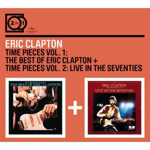 2for1 Time Pieces Volume 1/Time Pieces Volume 2 CD by Eric Clapton 2Disc