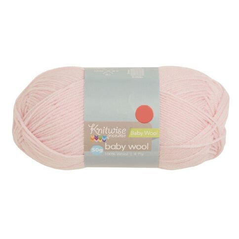 Knitwise Baby Yarn Wool 4Ply Pink 50g