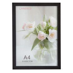 Living & Co Certificate Frame Black A4 21cm x 29.7cm