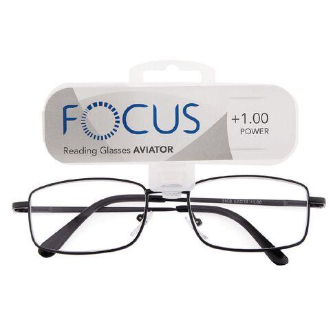 Focus Reading Glasses Aviator Power 1.00