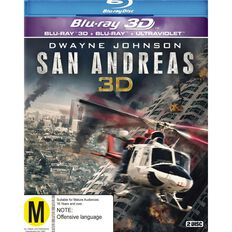 San Andreas 2D/3D Blu-ray 2Disc