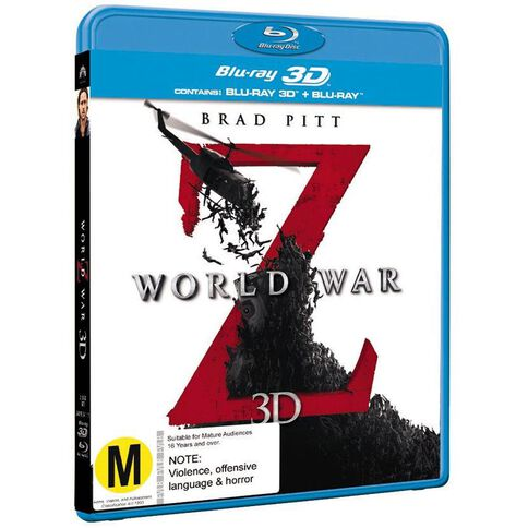 World War Z Blu-ray + 3D Blu-ray 2Disc