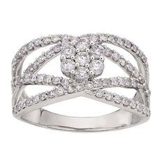 1 Carat Diamond 9ct Gold Diamond Fancy Ring