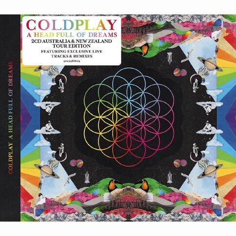 A Head Full Of Dreams (Australian Tour Version) CD by Coldplay 2Disc