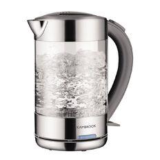 Kambrook 1.5L BPA Free Glass Kettle KKE760CLR