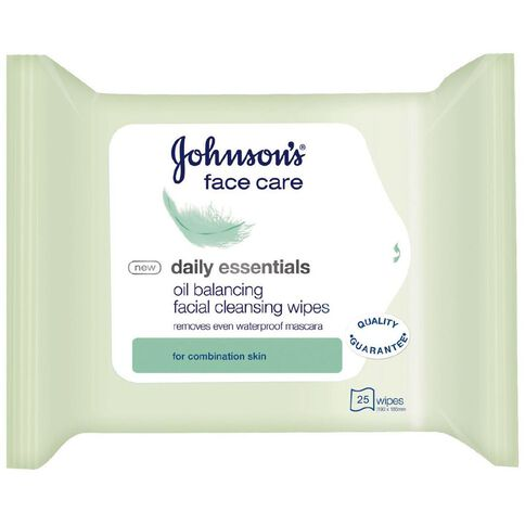 Johnson's Essentials 3in1 Wipes Combination Skin 25 Pack