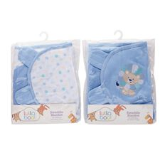 Lullaboo Swaddle Blanket Assorted Blue S-M