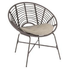 Solano Rica Wicker Moon Chair