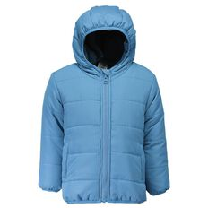 Hippo + Friends Toddler Boy Plain Puffer Jacket