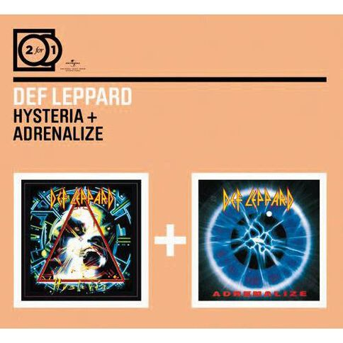 2for1 Hysteria/Adrenalize CD by Def Leppard 2Disc