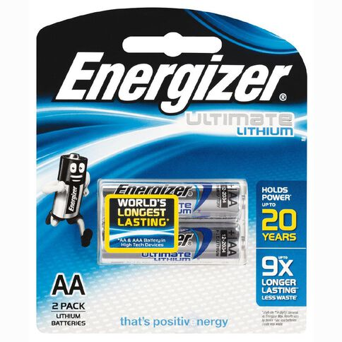 Energizer Ultimate Lithium Battery AA 2 Pack