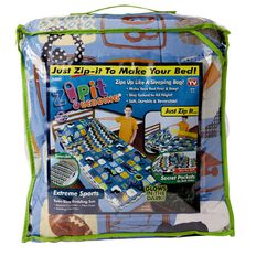 As Seen On TV Zip It Bedding Extreme Sports