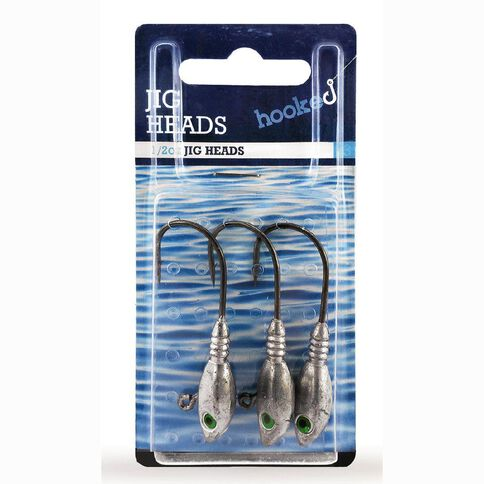 Hooked Jig Heads 1/4oz 3 Pack
