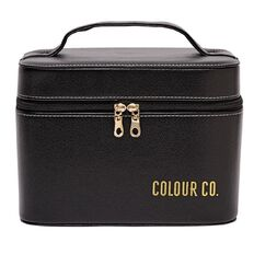 Colour Co. Toiletry Bag Cosmetic Hard Case with Mirror
