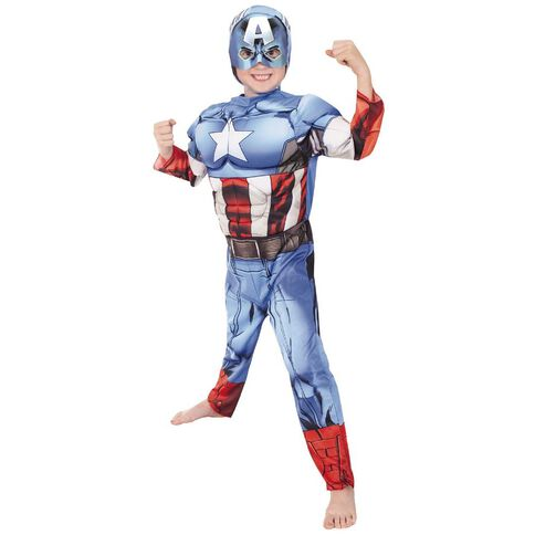 Avengers Marvel Dress Up Deluxe Costume Assorted Size 3-5/6-8