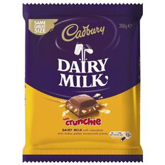 Cadbury Dairy Milk with Crunchie Pieces Block 350g