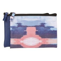 Toiletry Bag Flat Water Colour Navy/Pink 2 Piece Set