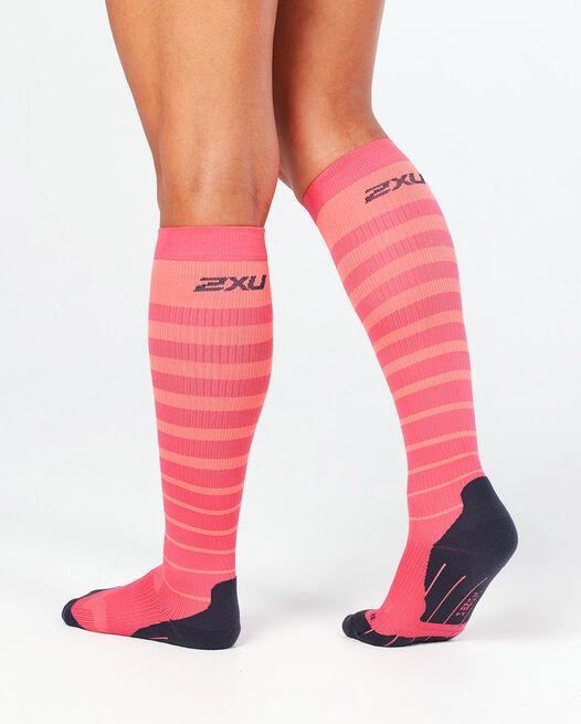 Striped Run Compression Socks
