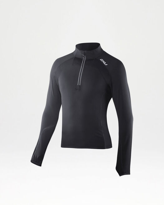 3/4 Zip Thru Run Top
