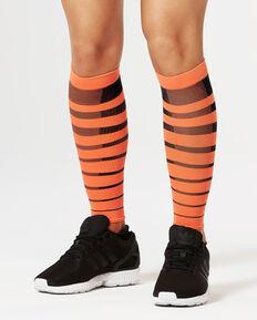 Striped Run Comp Calf Sleeves