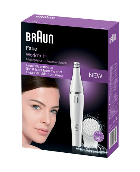 Mini Facial Epilator Hair Removal and Facial Cleansing Brush