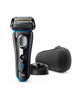 Series 9 Wet/Dry Electric Shaver Black plus Charge Station & Travel Case