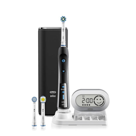 7000 Black Electric Toothbrush  incl. 3 Head Refills & Travel Case
