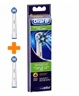 Cross Action 4 +2 Pack Toothbrush Heads
