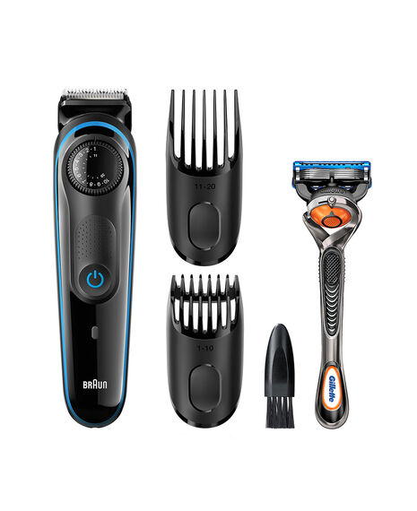 Beard Trimmer, 39 length settings plus free Gillette Fusion ProGlide Manual Razor