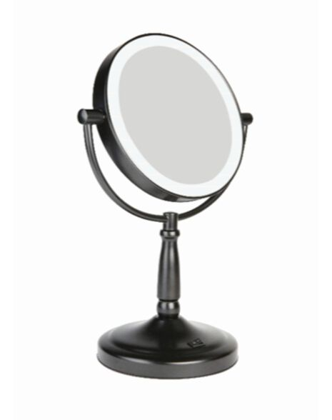 Matt Black Beauty Mirror