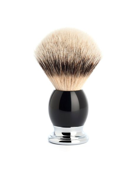 Silver Tip Badger Brush - Black