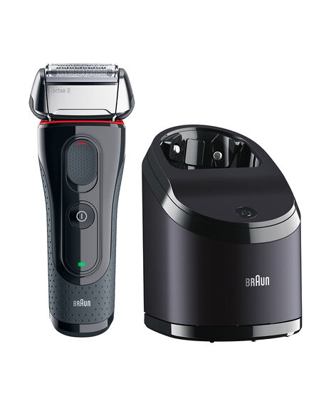 Braun Series 5 Washable Electric Shaver Black with Flex Motion Tec plus Clean & Charge Station