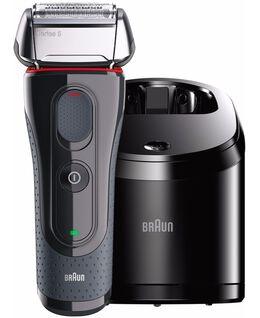 Series 5 Wet/Dry Electric Shaver Black with Flex Motion Tec plus Clean&Charge Station