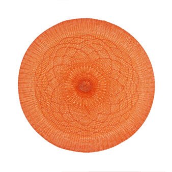 Round embroidered table mat
