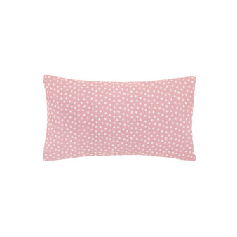 Pillowcase in percale with star pattern