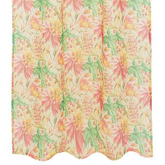 Tenda misto lino stampa fiori tropicali
