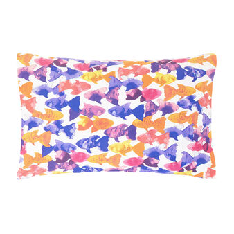 Fish pillowcase in 100% cotton percale