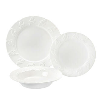 Ceramic parrot dinnerware set