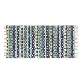 Ethnic 100% cotton jacquard kitchen mat