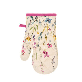 Oven mitt in 100% cotton